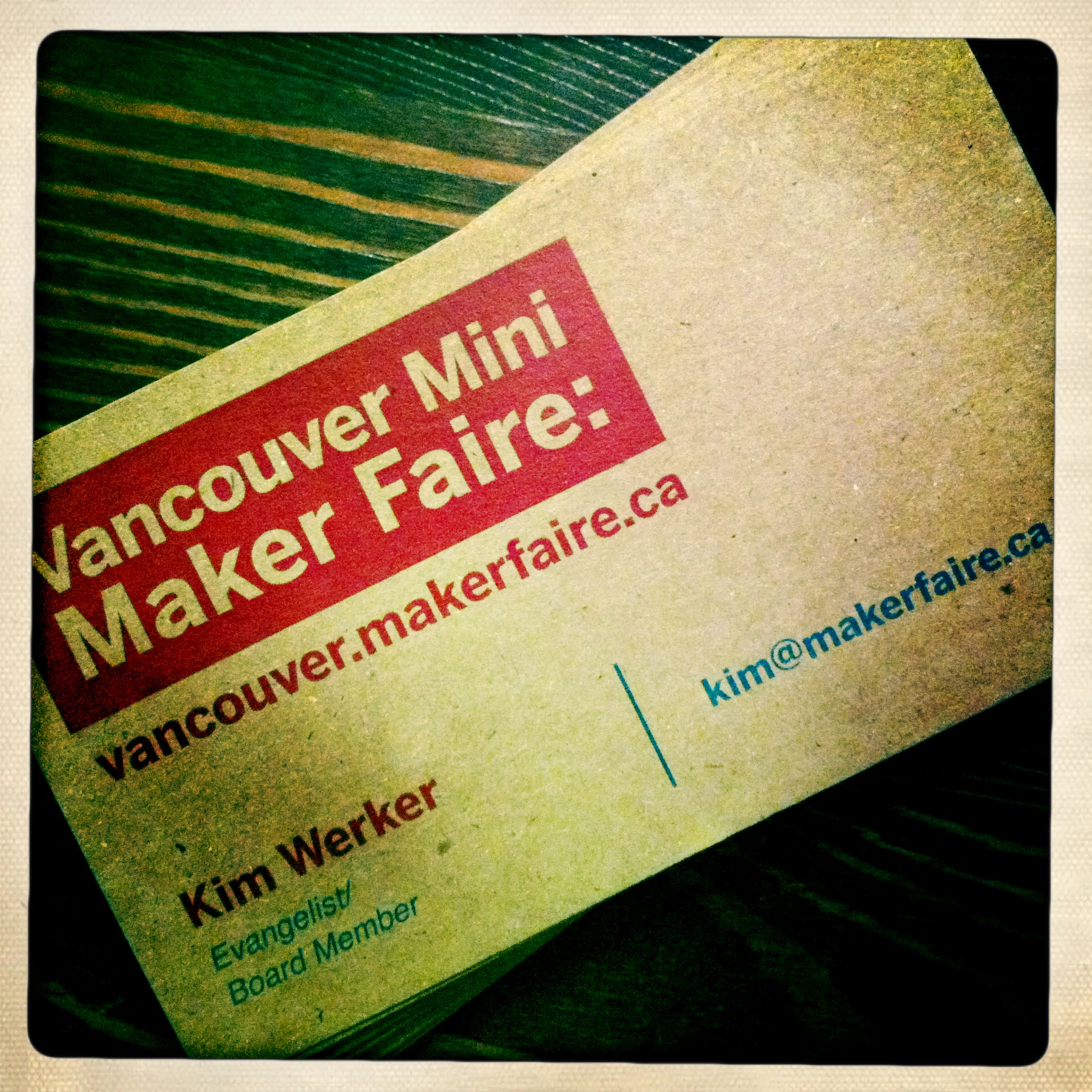 I joined the newly formed Vancouver Maker Foundation as a founding board member.