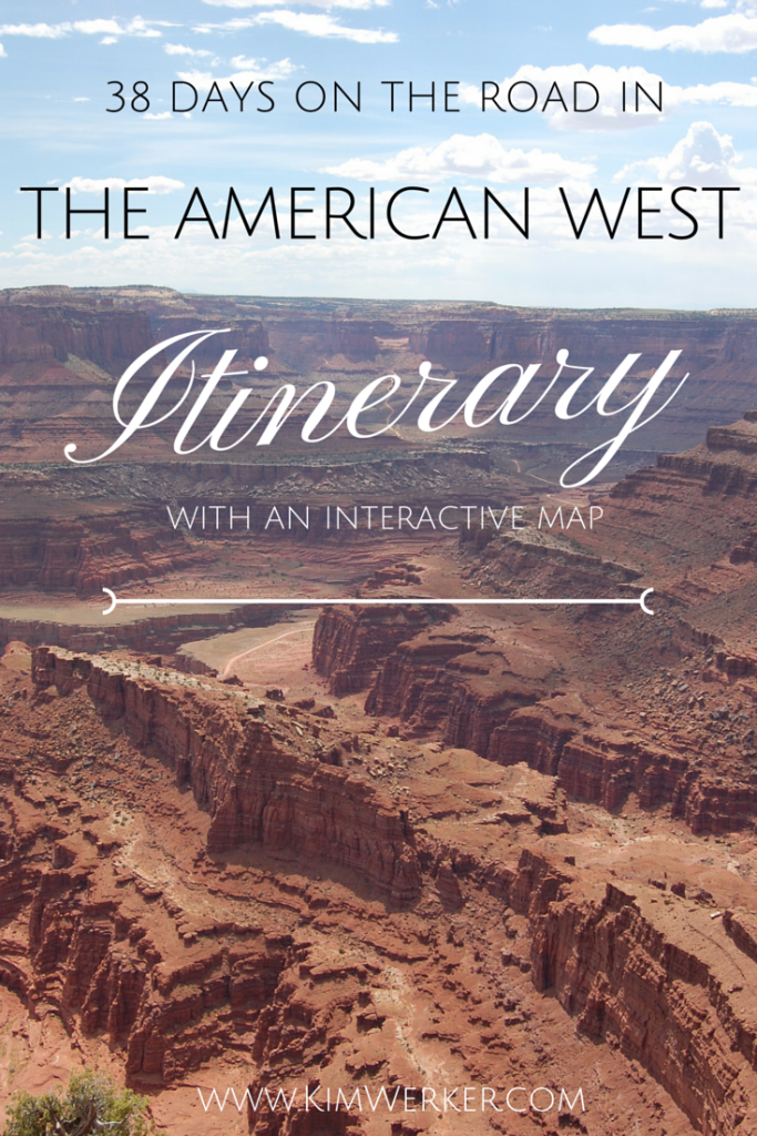 American West road trip graphic