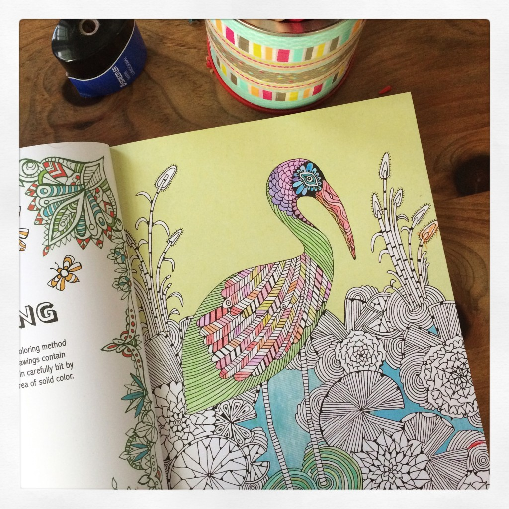 Creative Therapy adult colouring book. It's one of the best I've seen!
