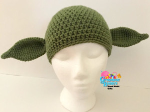 Pattern for crocheted Yoda hat costume